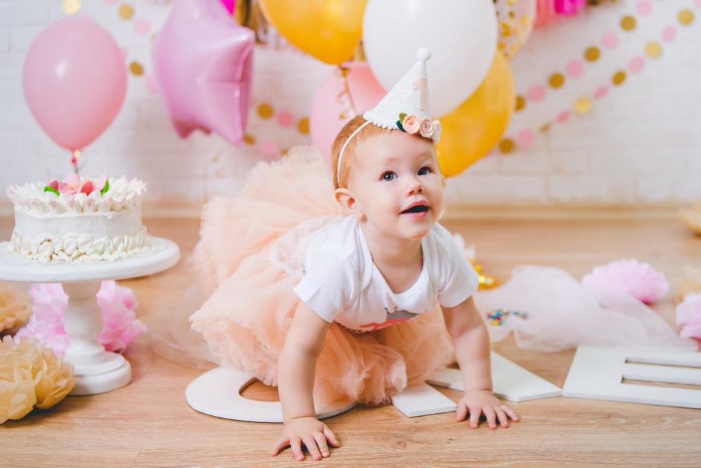 фото на 1 годик с тортом